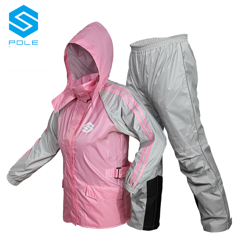 Motorcycle Breathable Raincoat for Men and Women Summer Waterproof Suit Adult Split Rain Coat and Pants Rainwear Hooded Poncho reflective raincoat rain pants waterproof single raincoat men and women for riding working free shipping