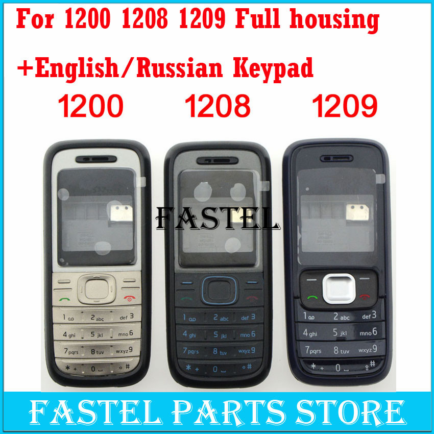 Aliexpress.com : Buy For Nokia 1200 1208 1208 High Quality New Full  Complete Mobile Phone Housing Cover Case + English / Russian Keypad from  Reliable Mobile ...