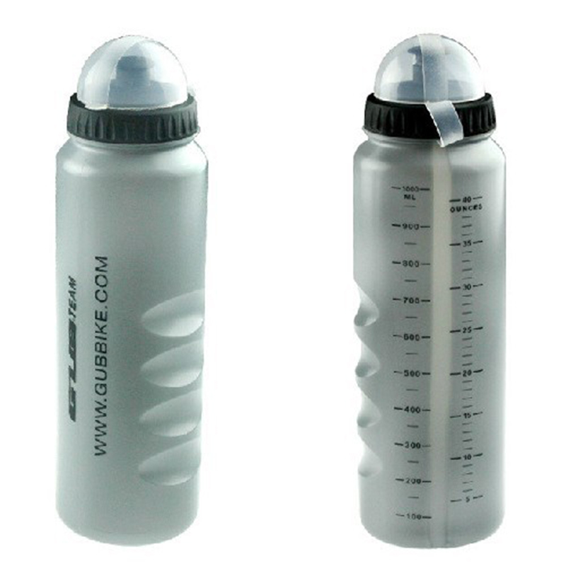 1PCS GUB TEAM 1000ML Bicycle Water Bottle Portable Outdoor Sports Kettle Cycling Drink Jug Bike Cup Attractive Gray