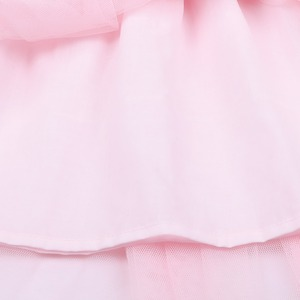 Image 5 - Flofallzique Kid Clothes Pink Round Neck Lace Tulle Tutu Party Wedding Christmas Sweet Cute Girl Dress  1 8Y