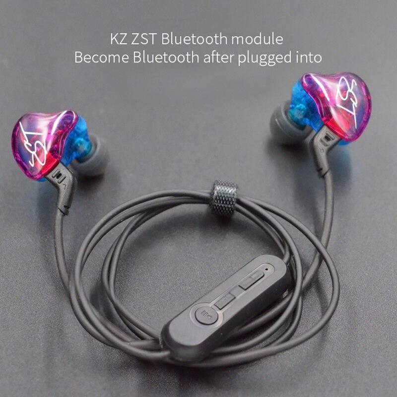 KZ ZST/ZS3/ZS5/ED12/ZS6 Bluetooth 4.2 Wireless Upgrade Module Cable Detachable Cord Applies KZ Headphones