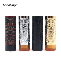 Shenray Purg Slim Piece Mechanical Vape Mod Electronic Cigarettes 25mm Pharaoh Mech Box Mod for 510 RDA Atomizer Tank Vaporizer