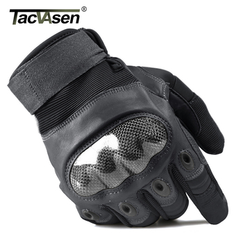 TACVASEN Military Tactical Gloves Men's Gloves Hard Shell Full Finger Gloves Airsoft Anti-slip Paintball Leather Gloves 1