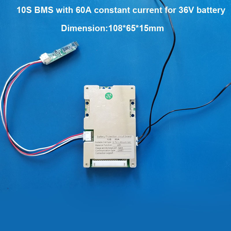 36V Eelectric scooter Li ion Battery PCB board smart BMS 10S with APP software and PC