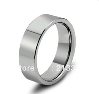 Free Shipping Buy Cheap Price Jewelry USA Brazil Russia HOT Selling 8MM Mens Silver High Polished Pipe Cut Tungsten Wedding Ring