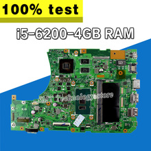 X556UV i5-6200 процессор GeForce 940 м в оперативная память 2 4 Гб материнская плата для ASUS X556UV X556UB X556UR X556UF X556UJ Материнская плата ноутбука Testado