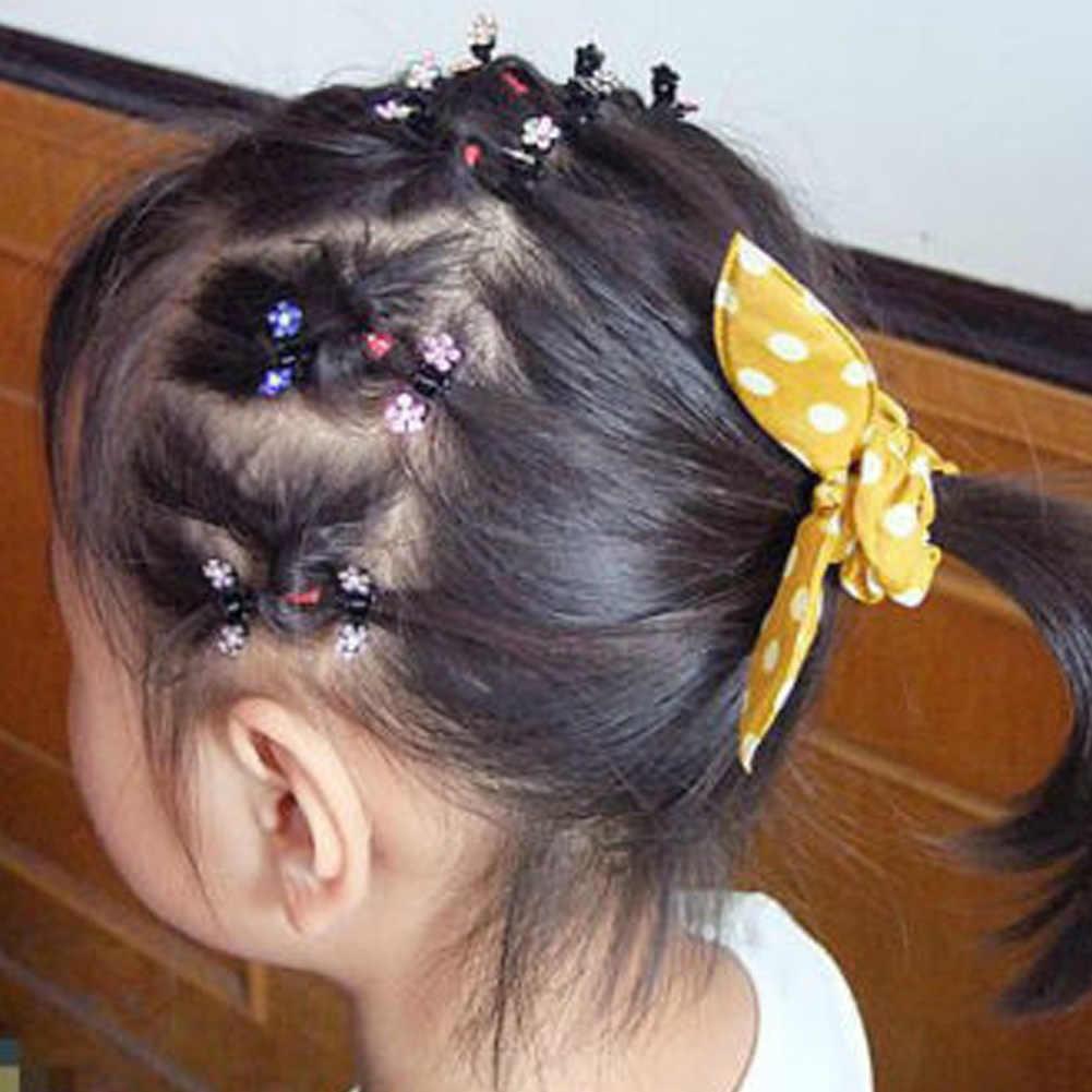 Новинка 2019 года, 1 шт., маленькие хрустальные цветы, металлические когти для волос, детские мини-заколки со стразами, зажим для волос, детские заколки для волос