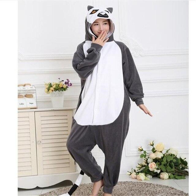 475520cb Adultos Onesie Animal Lemur de Cola Larga Mono Trajes de Fiesta de Navidad  de Halloween Pijamas Unisex hombres de Las Mujeres en de