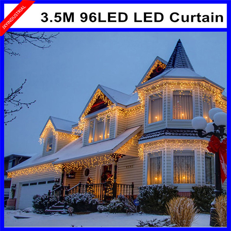 led string light 3.5M 96led AC110V colorful holiday led lighting waterproof outdoor decoration light christmas light