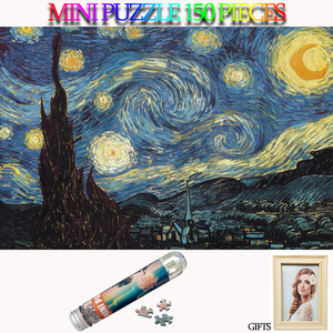 MOMEMO Starry Sky Jigsaw Puzzle 150 Piece Tube Mini Paper Puzzles Old Master Puzzle Toys for Adults Kids Teens Home Decoration