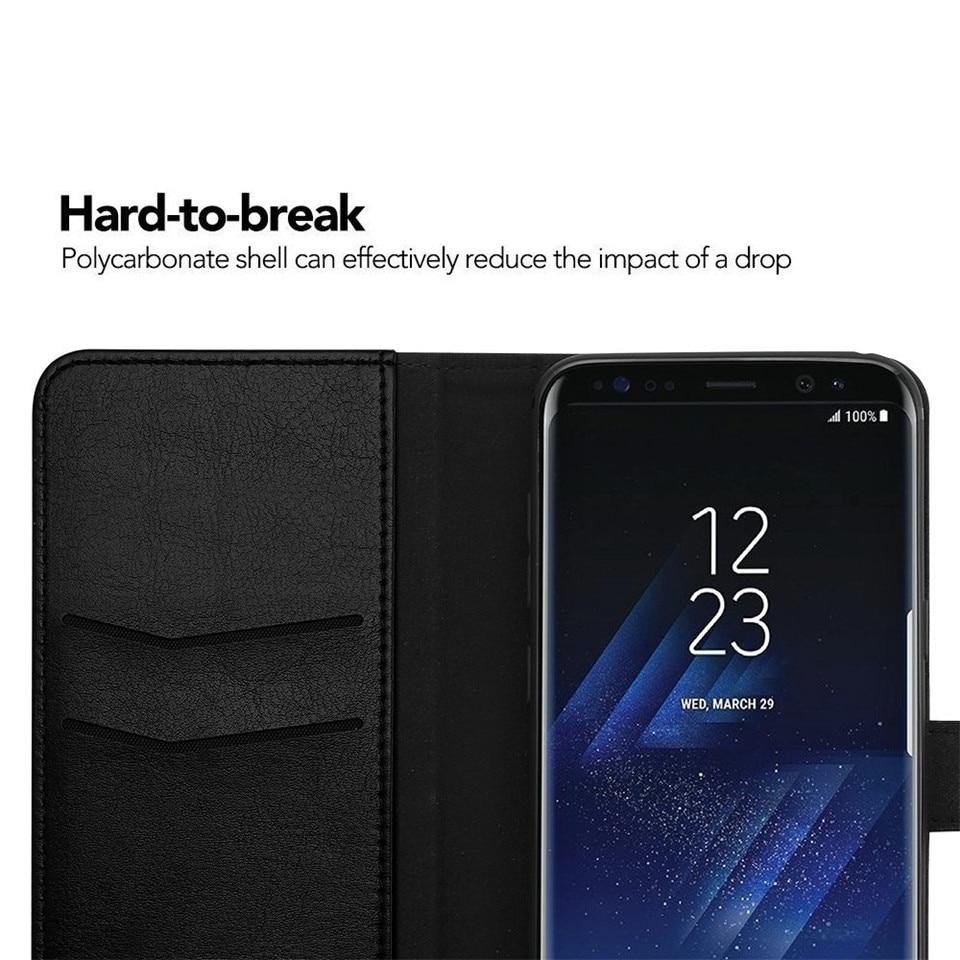 Samsung S8 Case շքեղ կաշվե դրամապանակի - Բջջային հեռախոսի պարագաներ և պահեստամասեր - Լուսանկար 6