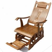 Современный бамбуковый стул качалка для взрослых скользящее кресло качалка Натуральный Бамбуковый мебель внутри гостиной кресло кресло д