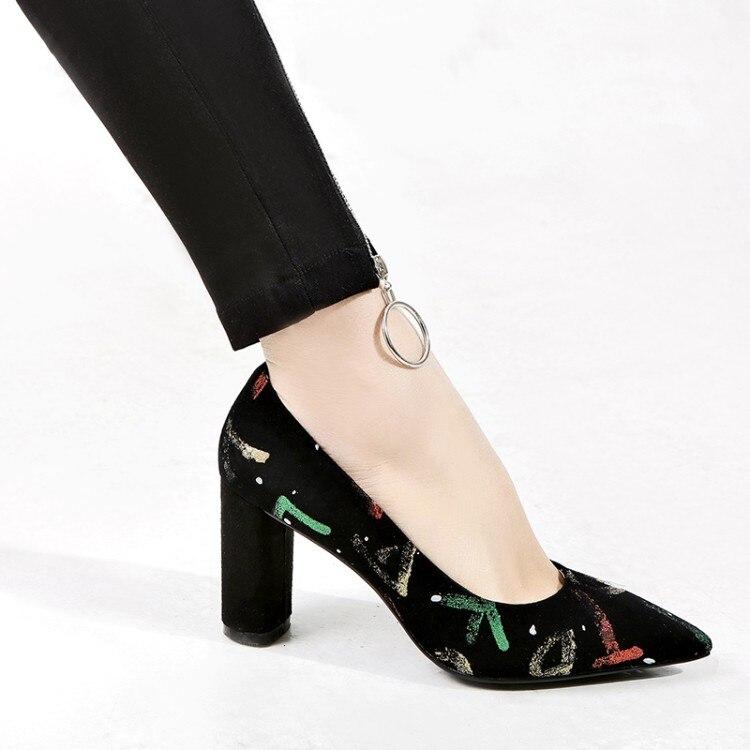 {zorssar} 43 De Punta 2018 on Azul Gamuza Moda Tacón Zapatos Tacones Mujer Alto Llegada Nueva Bombas rojo Slip Superficial Gran Tamaño FzzBrW