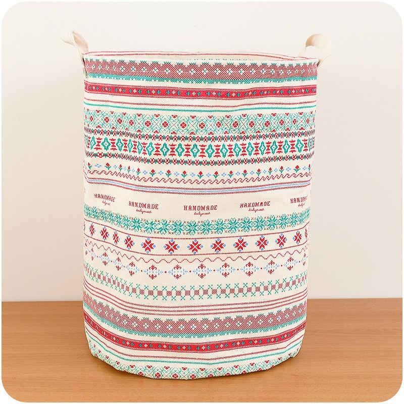 Foldable Large Laundry Storage Baskets Cartoon Dirty Clothes Bags Kids Toy Storage Basket Multifunction Fabric Basket