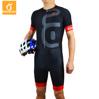 EMONDER Triathlon Cycling Skin Suit Mens Custom Jumpsuit Bicycle Sports Clothes Riding Clothing Set 2017 New