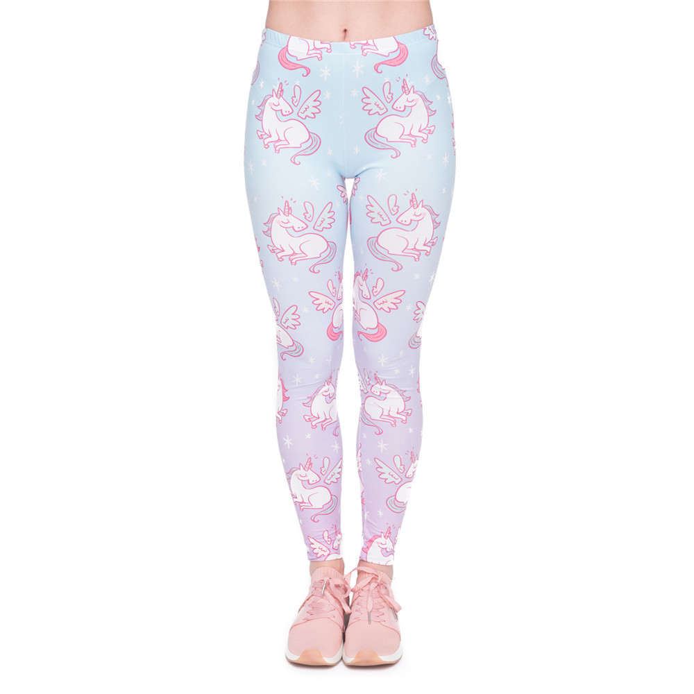 Fashion New Arrival Women Legging Unicorns Wings Printing Leggings Elegant Cozy High Waist Woman Pants