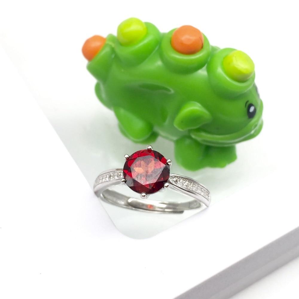 JewelryPalace 925 Sterling Silber Roter Granat 6mm * 6mm Jahrestag - Edlen Schmuck - Foto 2
