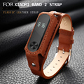 New Replace Leather Strap For Xiaomi Mi Band 2 MiBand 2 Wristband Bracelet Replace Accessories For Mi Band