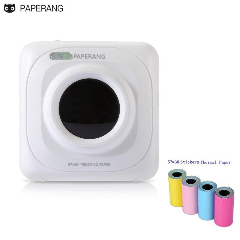 Tragbare Bluetooth Drucker PAPERANG Foto Telefon Drahtlose Verbindung Mini Drucker plus 4-Volumen farbe Selbst-adhesive Thermische Papier