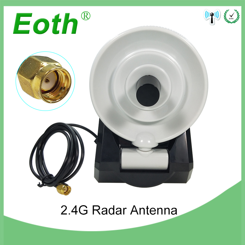 WiFi Antenna 2.4GHz Antenna High Gain 10dBi RP-SMA Male Wireless WLAN Directional Radar Antenna With RG174 Cable 1M Wifi Router