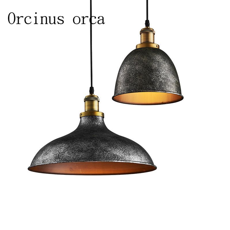 Nordic retro industrial wind iron Chandelier restaurant cafe bar creative single head Chandelier free shipping icd60011 retro three head instrument restaurant cafe bar iron chandelier chandelier lamp decoration lighting