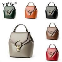 Fashion Brown PU Leather Backpacks Female Black Shoulder Bag For Adolescent Girls Women Wine Red Cover