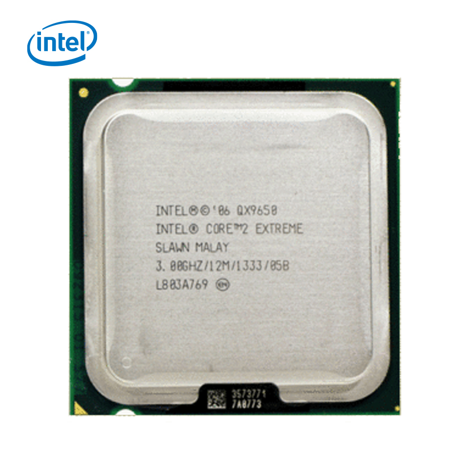 Intel Core 2 Extreme QX9650 Desktop Processor Quad-Core 3.0GHz 12MB L2 Cache FSB 1333 LGA 775 X9650 Used CPU