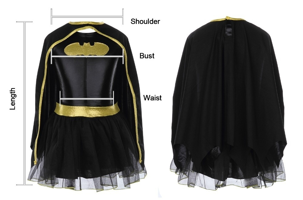 Child Girls Batman Batgirl Fancy Dress Tutu Superhero Costume Outfits Comic 4PCS 2