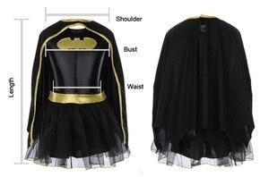 Image 3 - ילד בנות באטמן Batgirl תחפושת טוטו Superhero תלבושות תלבושות קומיקס 4PCS