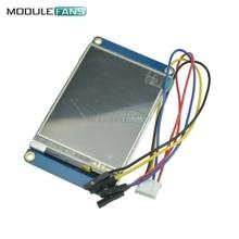 لوحة عرض وحدة ذكية HMI من Nextion مقاس 2.8 بوصة لأردوينو راسبيري Pi 2 A + B + أطقم USART UART شاشة لمس تسلسلية TFT LCD