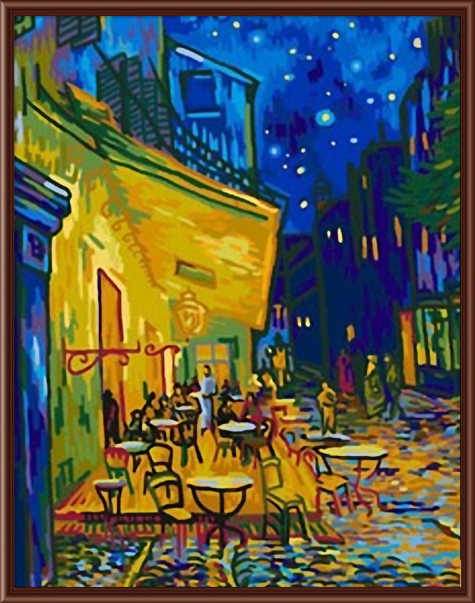 Frameless pictures Digital oil painting decorative pictures colored drawing abstract  painting by numbers Sidewalk Cafe B012