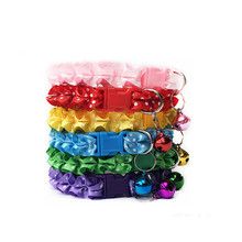 Dog Collar Personalized Nylon Lovely Cat Lace with Bell Adjustable Buckle Fashion Pet Puppy  Accessories
