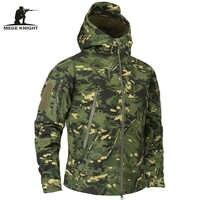 Mege marca roupas outono camuflagem militar dos homens jaqueta de lã do exército roupas táticas multicam masculino camuflagem windbreakers