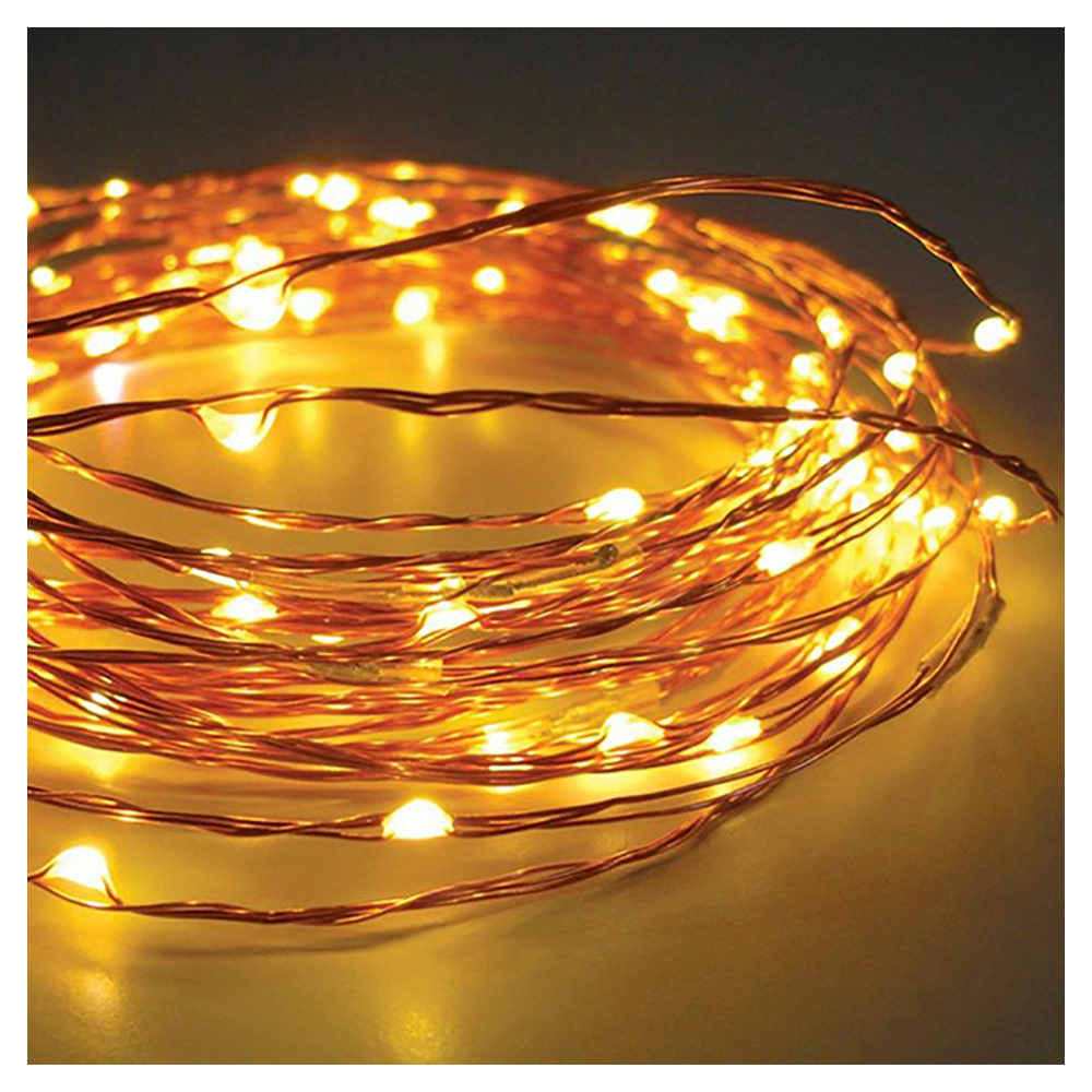 LED String Light Copper Wire Bedroom LED Fairy Starry Lights for Garden Path Xmas Christmas Tree Decora(30 LEDs, Yellow, 10ft)