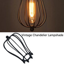 Vintage Retro Antique Pendant Wire Shades LED Bulb Chandelier Cage Industrial Ceiling Hanging Guard Cafe Bars Lamp(China)
