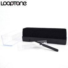 LoopTone LP/CD Spazzola di Velluto Dello Stilo Cleaner Vinyl Record Spazzola Per La Pulizia Accessori per Giradischi Lettori Nero