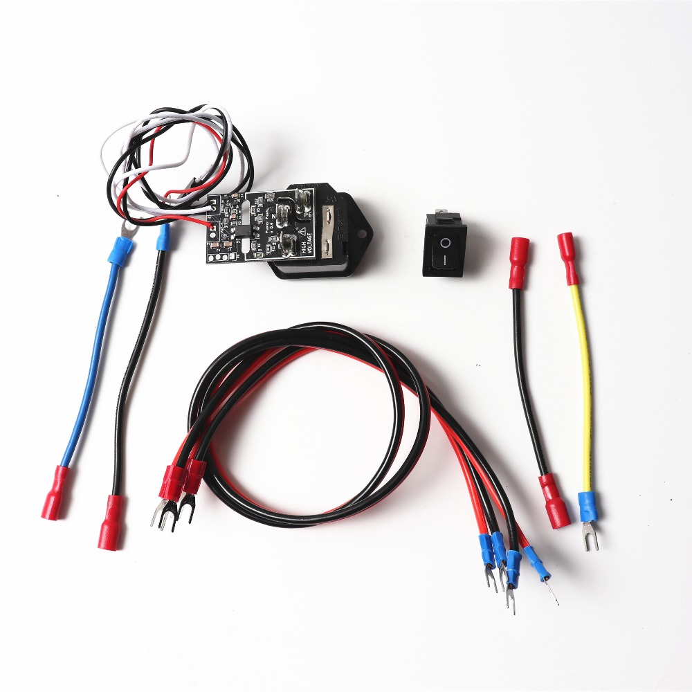 Prusa i3 MK3 Power Panic V 0.4 High Voltage With 10A 250V Fuse Switch,with wiring harness, switch