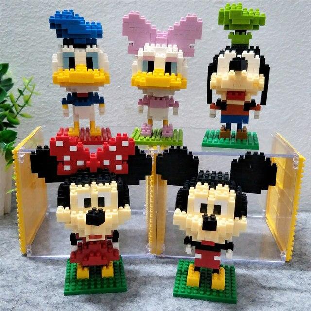 Party Favors 200-400 Blocks Diy Diamond 8cm Child Puzzle Cartoon Donald Duck Daisy Mickey Minnie Standard Domino Wedding Gifts