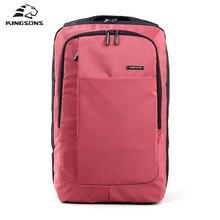 Kingsons красный зеленый серый сумка 15.6 дюймов ноутбук рюкзак Для Мужчин's Эсколар Mochila кеймелбек Школьные сумки для подростков