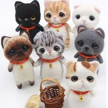 1 комплект шерсти для войлока diy пакет, кошка, игла для валяния, Шиба ину набор животных № 4