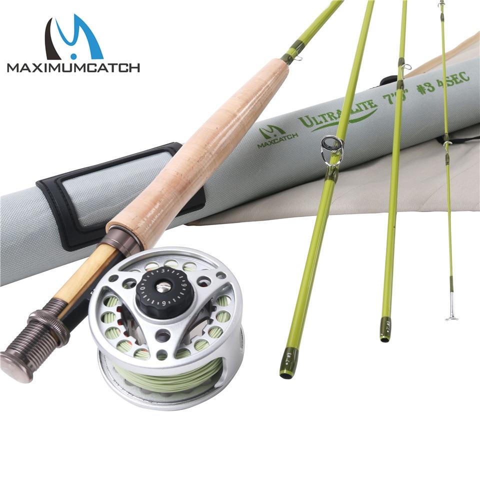 Maximumcatch 1 2 3WT 6 6 6 7 7 6FT Fly Rod Combo Medium Fast Fly