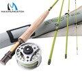 Maximumcatch 1/2/3WT 6/6.6/7/7.6 футов Fly Rod Combo средняя скорость Fly рыболовная удочка и Fly катушка с леской Fly Рыболовная Снасть