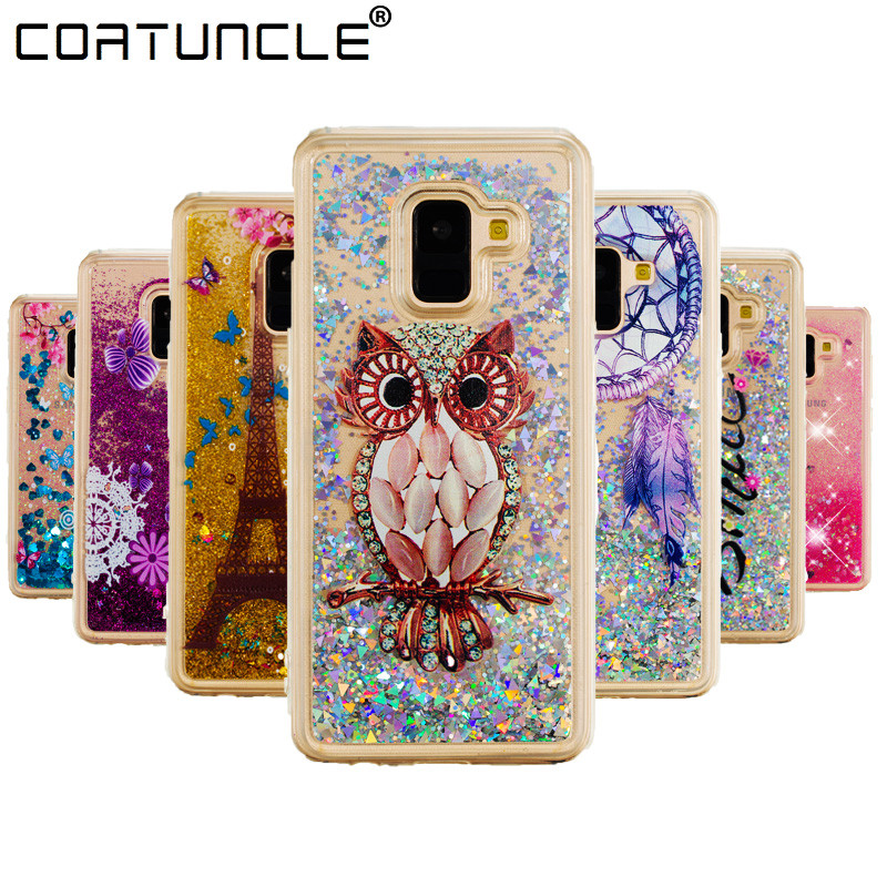 Cellphones & Telecommunications Phone Bags & Cases For Samsung Galaxy A8 2018 Case Transparent Tpu Cover Dynamic Liquid Glitter Sand 3d Stars Anti-knock 5.6 Inch Case Capa