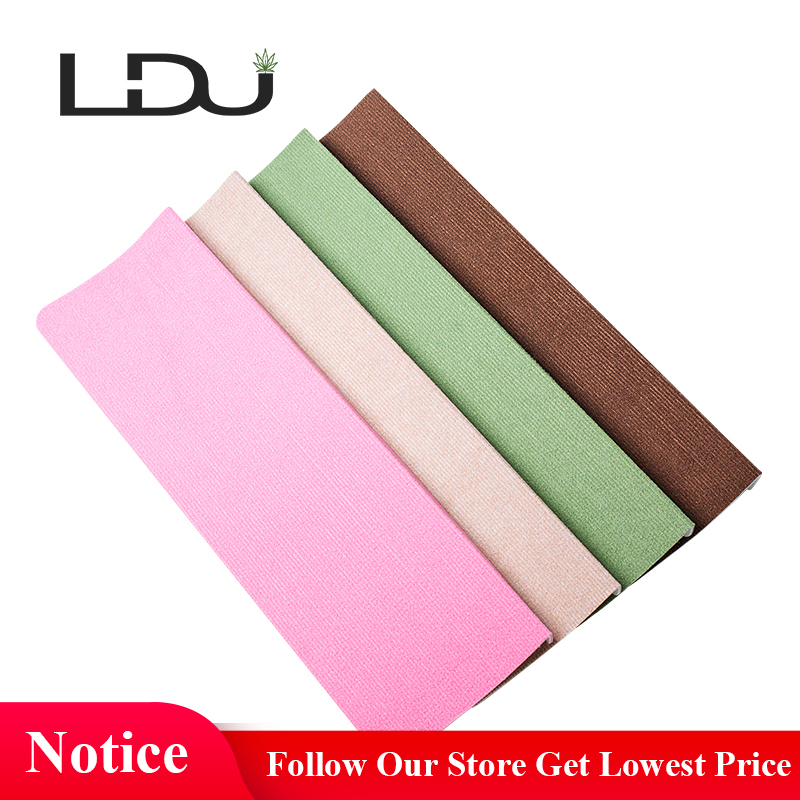 RULDGEE Solid Color Self-adhesive Non-slip Polyester PVC Home Stair Carpet for Living Room Stair Mat Protector Rug