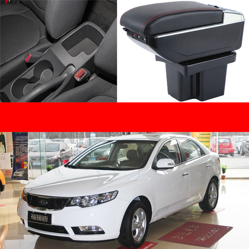 Car Armrest Central Storage Box with USB For kia forte kia cerato 2009 2010 2011 2012 mydean 3038ac для kia cerato 2009 2012 с кондиционером