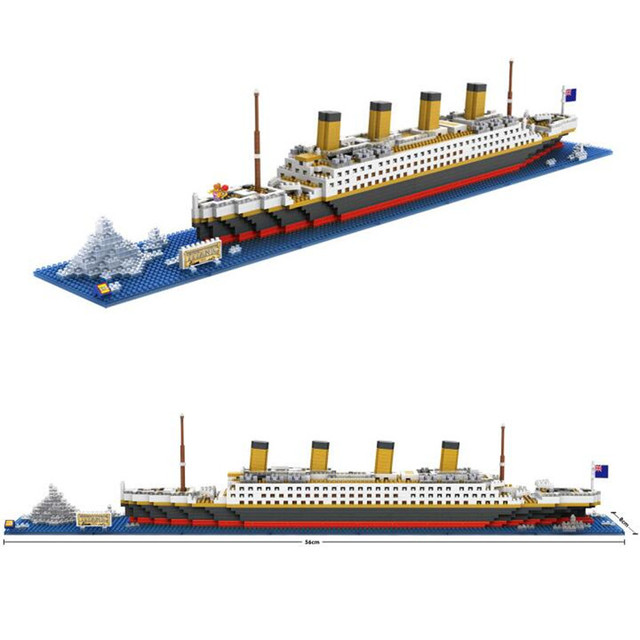 LOZ RMS Titanic Ship 3D Building Blocks Toy Titanic Boat 3D Model Educational Gift Toy for Children J38