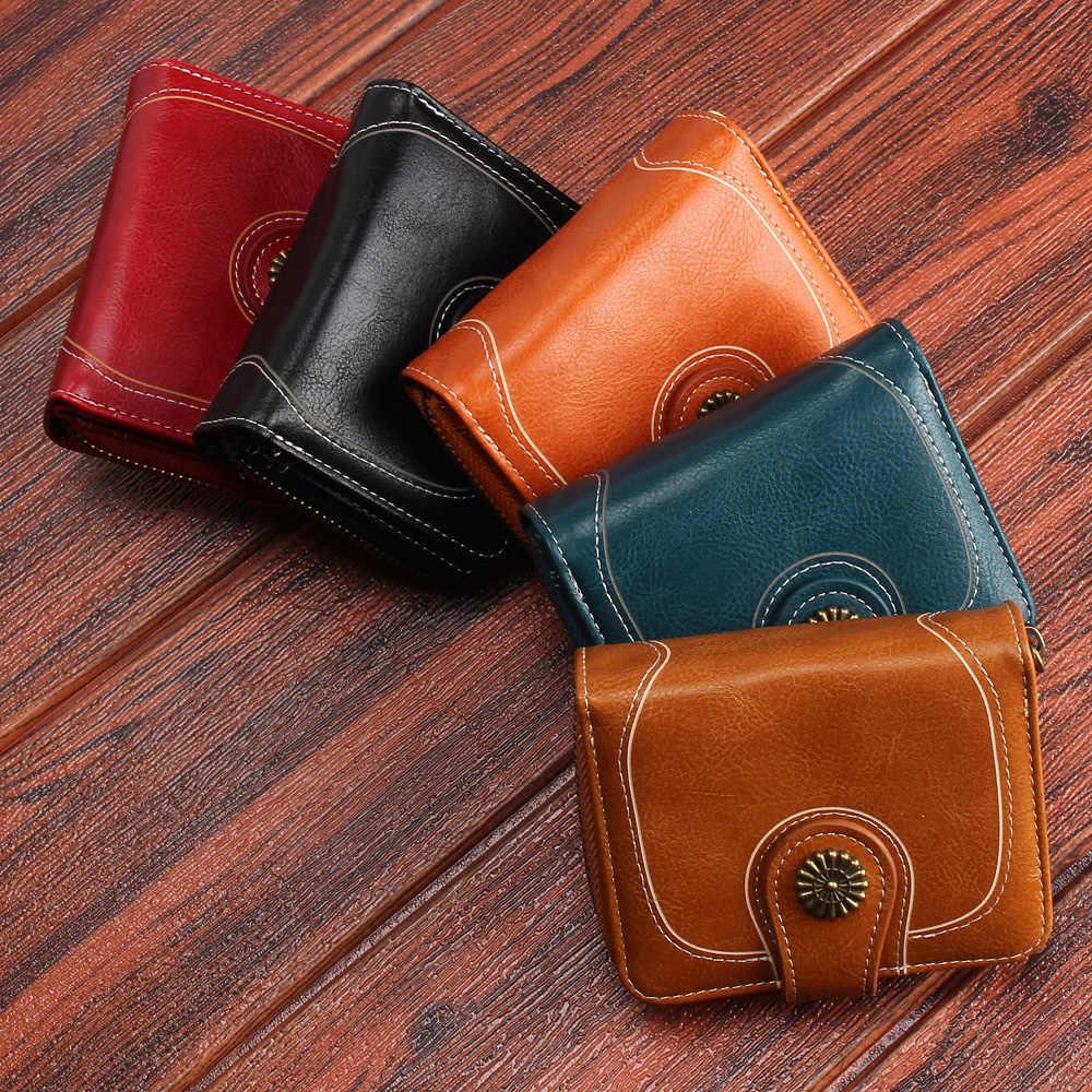 Бронзовый кулон женский модный мини кошелек женский короткий кошелек кожаный Pu многоцелевой кошелек для мелочи Карманный Кошелек для монет