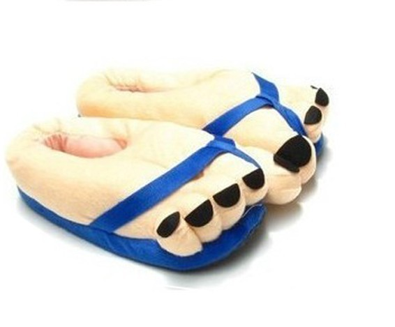 9205cd8de New Arrival Funny Winter Big Toe Feet Warm Plush Slippers 26*12.5CM Multi  Color For Choose Free Shipping-in Slippers from Shoes on Aliexpress.com |  Alibaba ...
