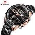 NAVIFORCE люксовый бренд  Цифровые мужские часы  военные кварцевые наручные часы для мужчин  Авто Дата  светодиодный дисплей  мужские часы  спорт...