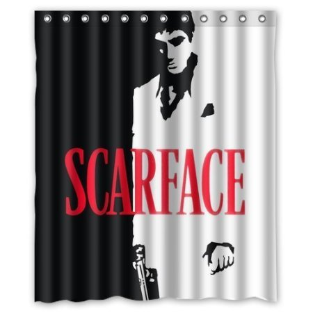 Famous Scarface Film 160x180cm Waterproof Shower Curtain Home Bathroom Curtains New